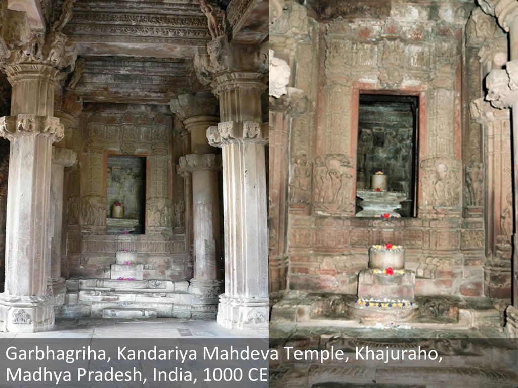 Garbhagriha, Kandariya Mahdeva Temple,...