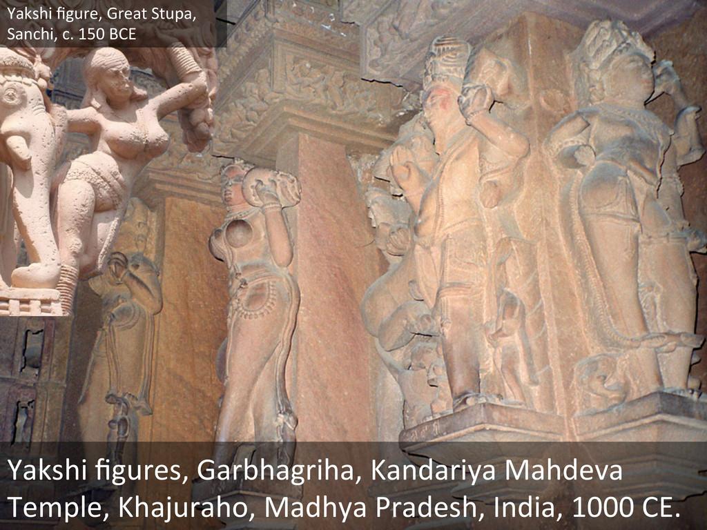 Yakshi figures, Garbhagriha, Kandariya...