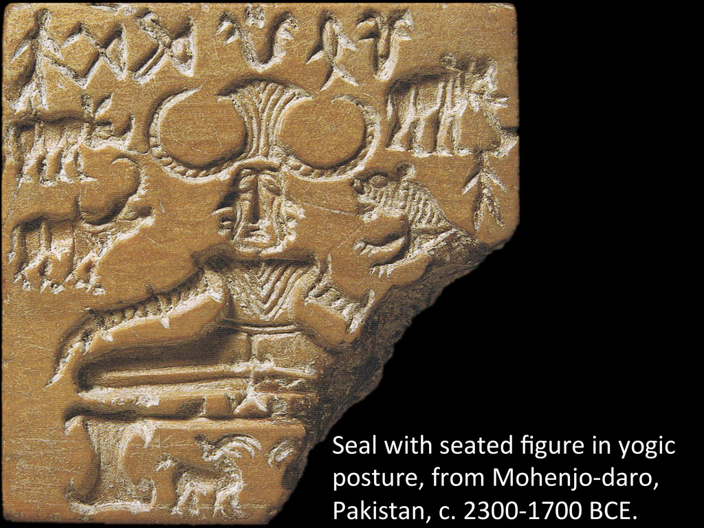 Seal with seated figure in yogic...