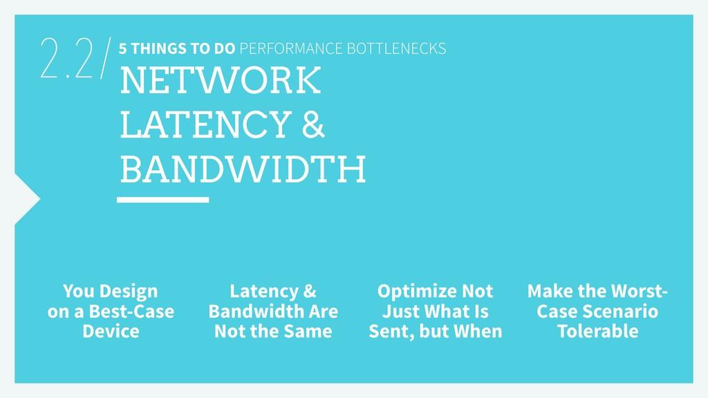 5 THINGS TO DO PERFORMANCE BOTTLENECKS NETWORK ...