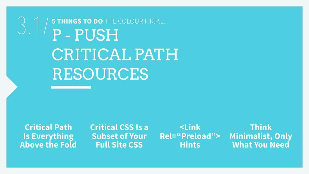 5 THINGS TO DO THE COLOUR P.R.P.L. P - PUSH CRI...
