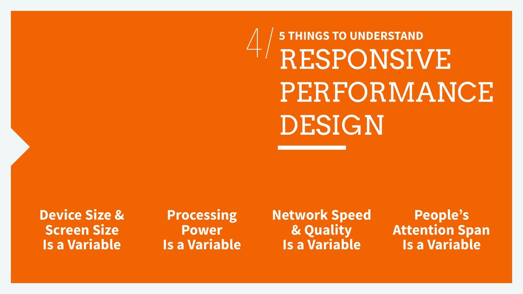 5 THINGS TO UNDERSTAND RESPONSIVE PERFORMANCE D...
