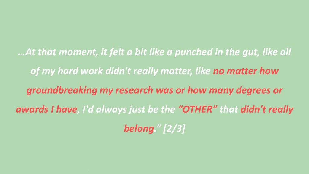 …At that moment, it felt a bit like a punched i...