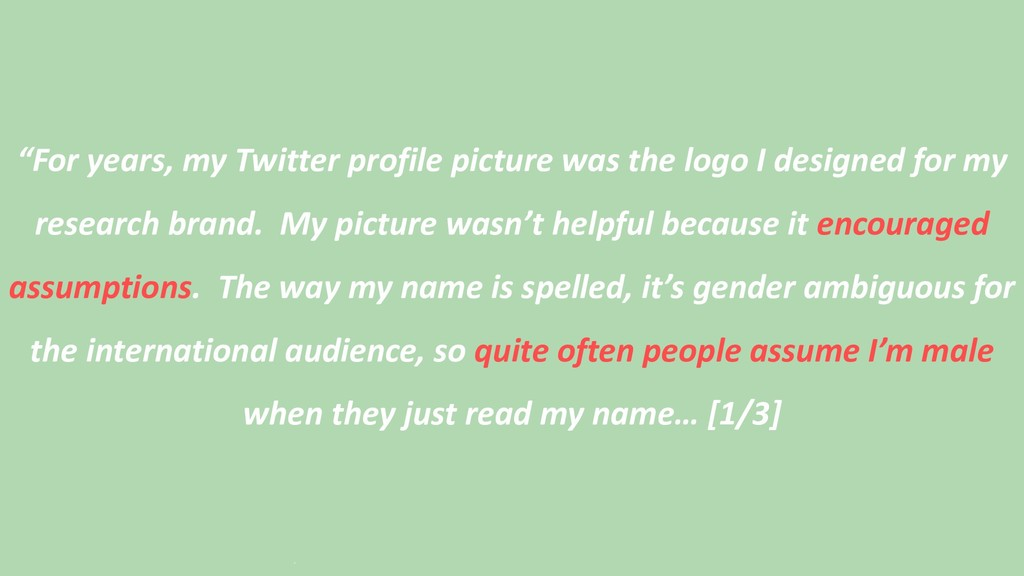 """""""For years, my Twitter profile picture was the ..."""
