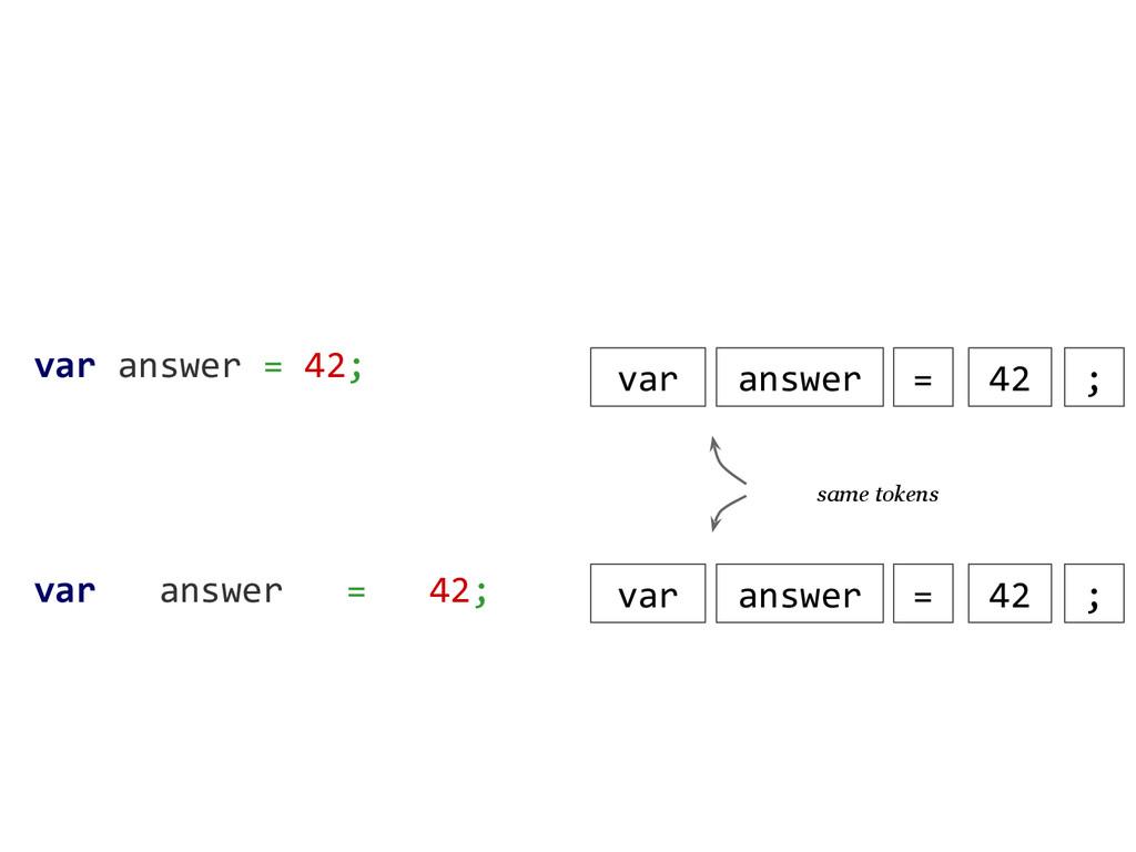 var answer = 42; var answer = 42; var answer = ...