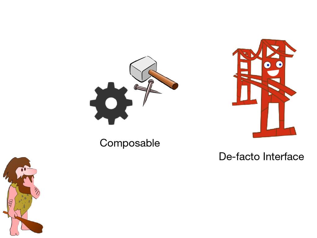 Composable De-facto Interface