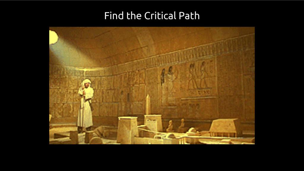 Find the Critical Path