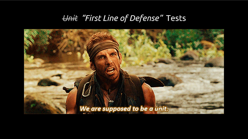 """Unit """"First Line of Defense"""" Tests"""