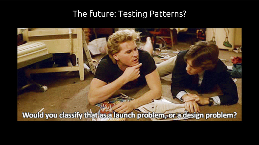 The future: Testing Patterns?