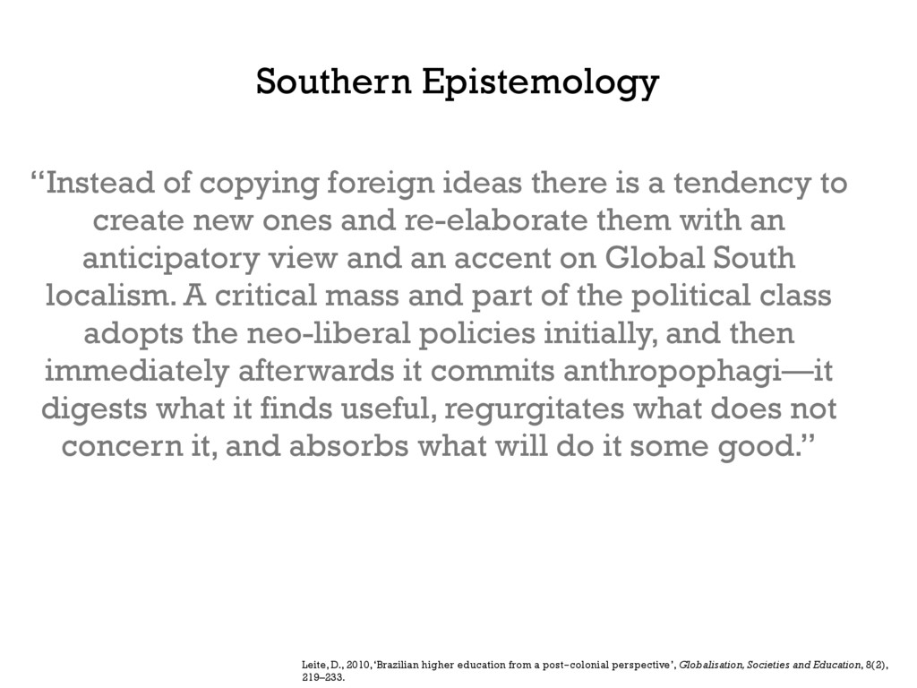 """""""Instead of copying foreign ideas there is a te..."""