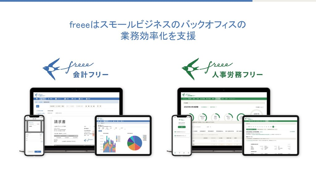 freeeはスモールビジネスのバックオフィスの 業務効率化を支援