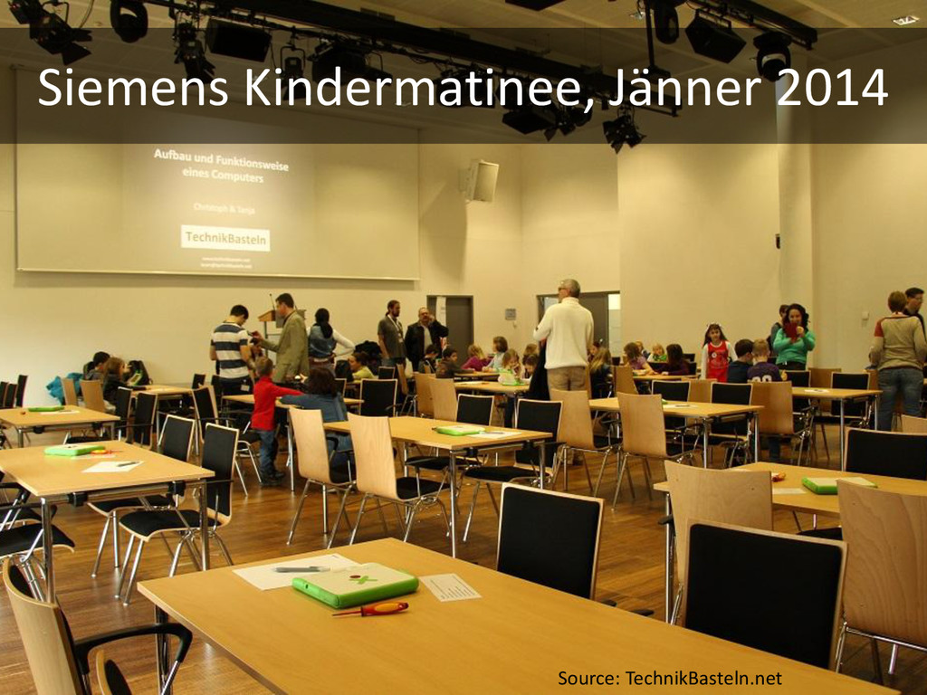 Siemens Kindermatinee, Jänner 2014 Source: Tech...