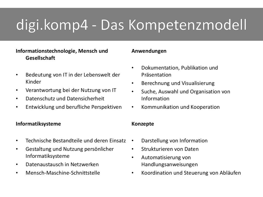 digi.komp4 - Das Kompetenzmodell Informationste...