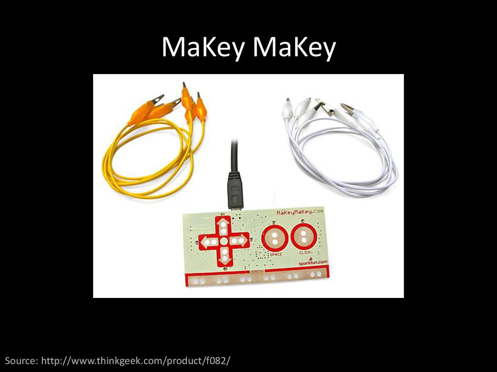 MaKey MaKey Source: http://www.thinkgeek.com/pr...