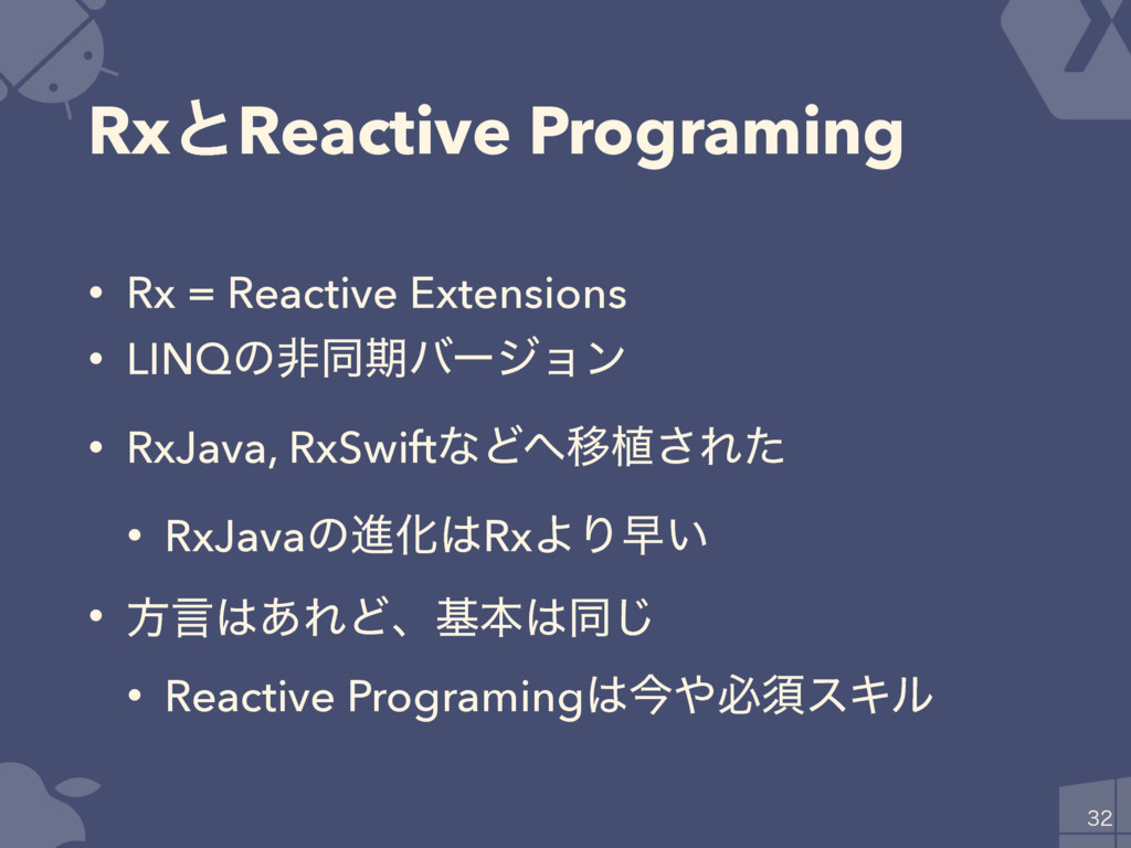 RxͱReactive Programing • Rx = Reactive Extensio...