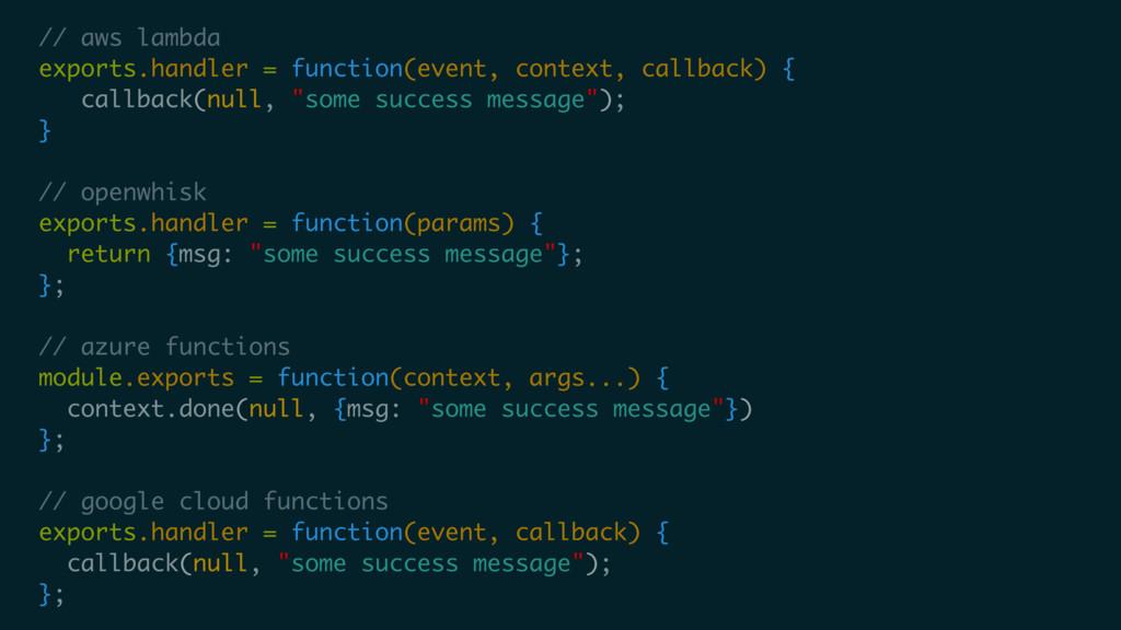 // aws lambda exports.handler = function(event,...