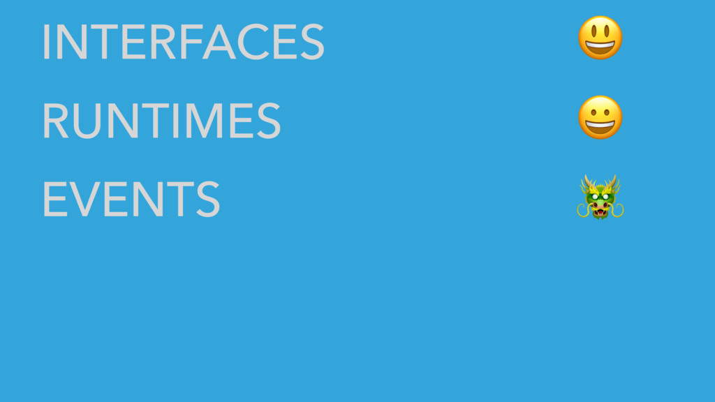 INTERFACES RUNTIMES EVENTS