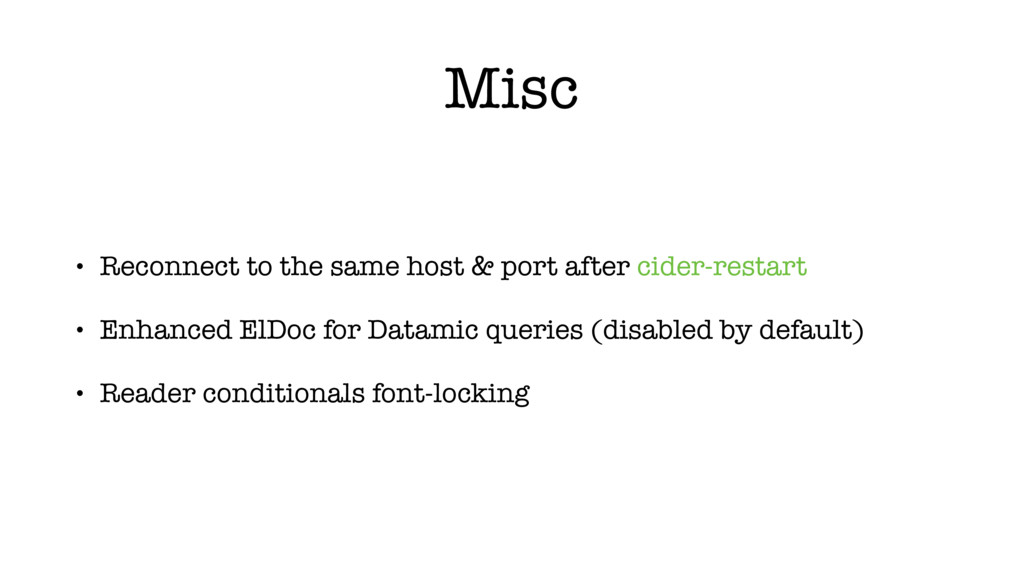 Misc • Reconnect to the same host & port after ...