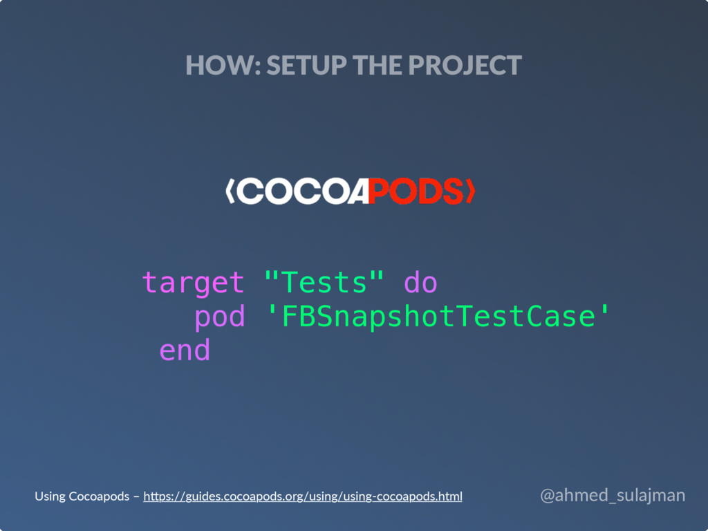 @ahmed_sulajman HOW: SETUP THE PROJECT Using Co...