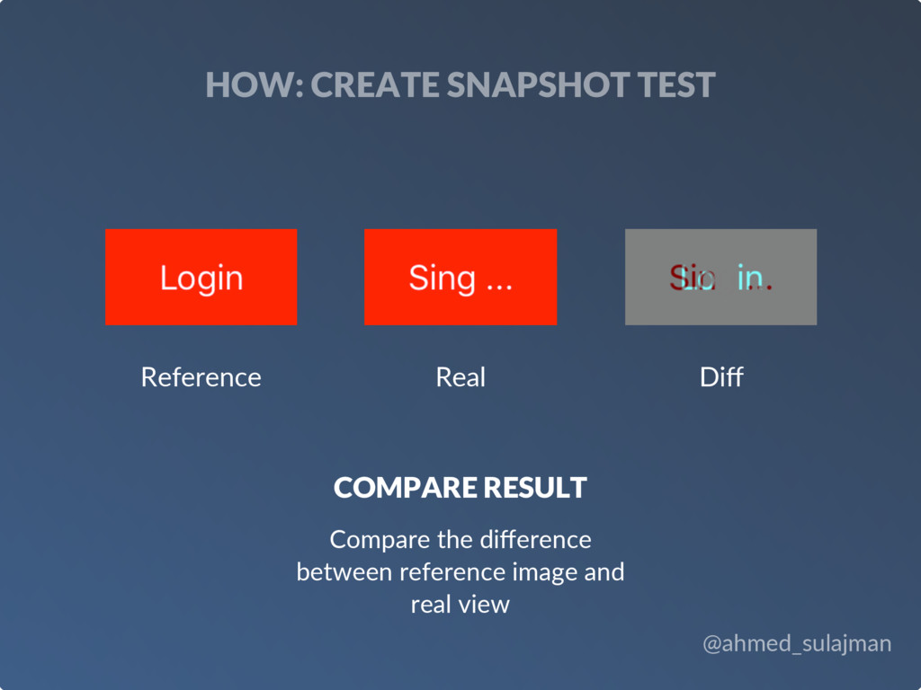 @ahmed_sulajman HOW: CREATE SNAPSHOT TEST COMPA...