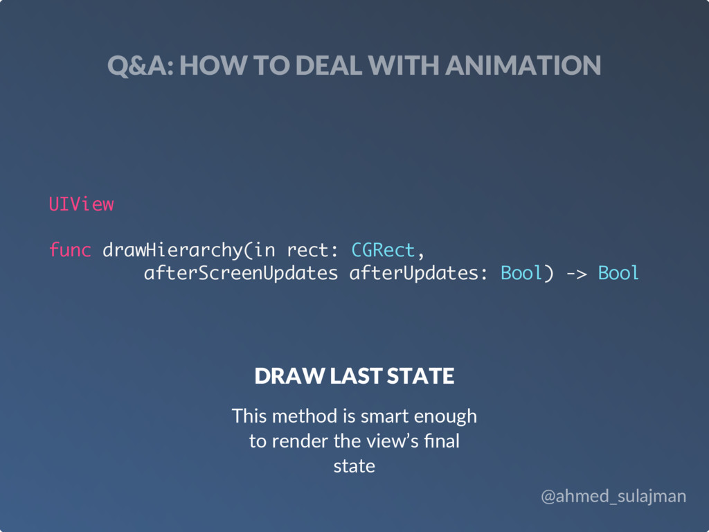 @ahmed_sulajman Q&A: HOW TO DEAL WITH ANIMATION...