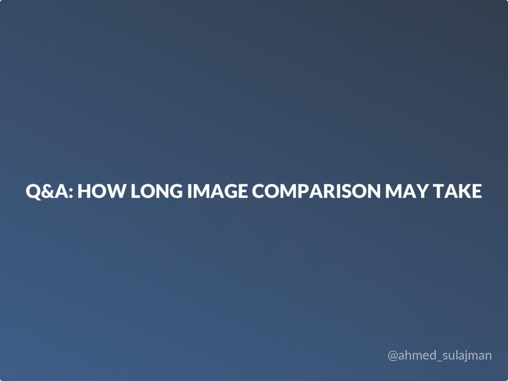 @ahmed_sulajman Q&A: HOW LONG IMAGE COMPARISON ...