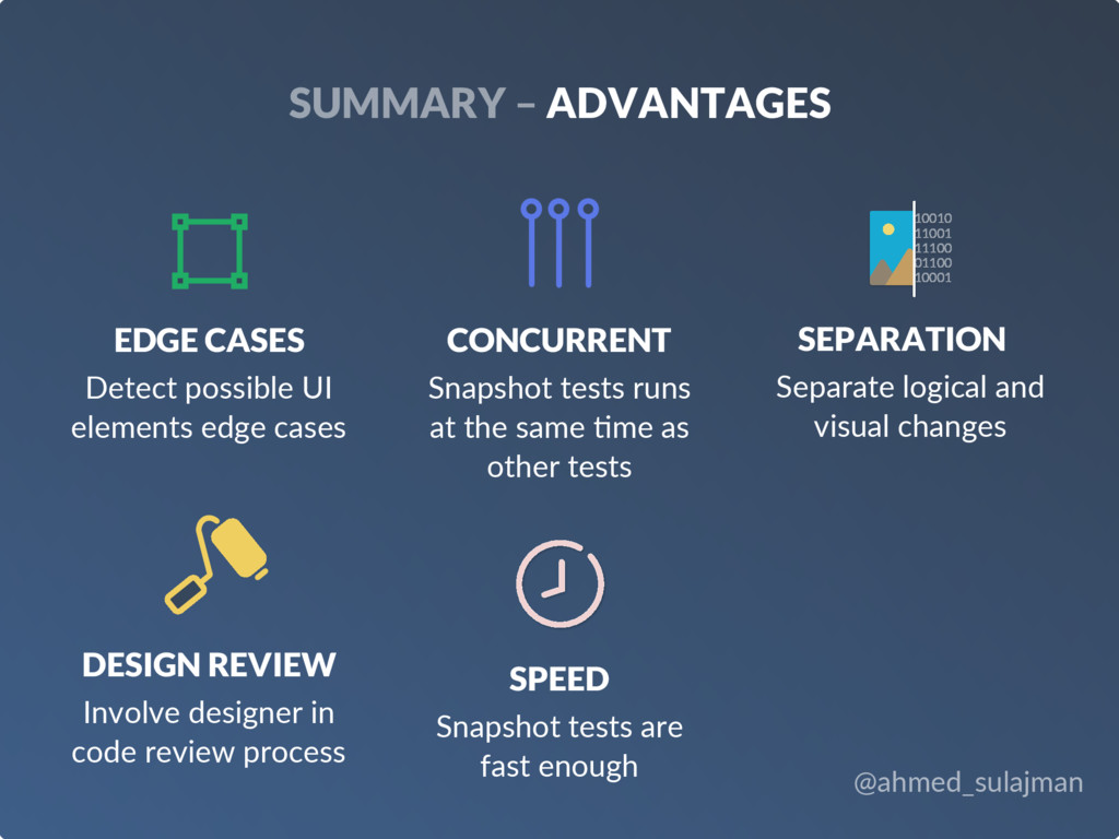 @ahmed_sulajman SUMMARY – ADVANTAGES EDGE CASES...