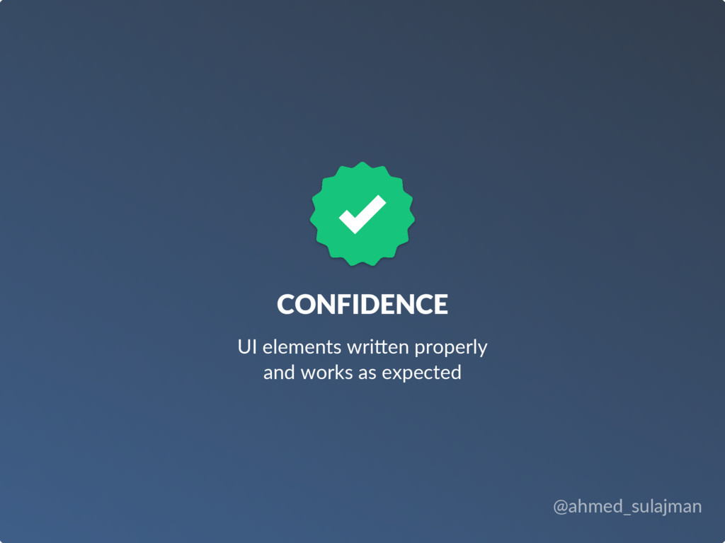 @ahmed_sulajman CONFIDENCE UI elements wri4en p...
