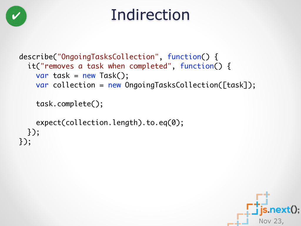 "Nov 23, Indirection describe(""OngoingTasksColle..."