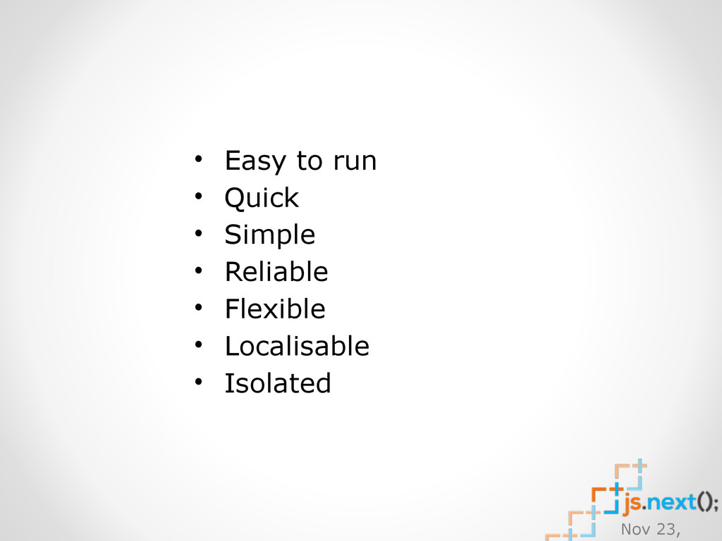 Nov 23, • Easy to run • Quick • Simple • Reliab...