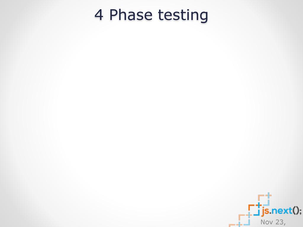 Nov 23, 4 Phase testing