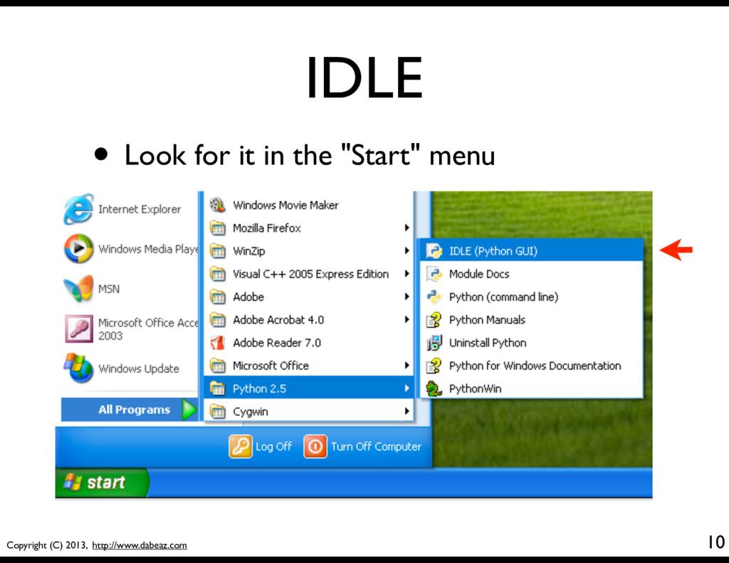 Copyright (C) 2013, http://www.dabeaz.com IDLE ...