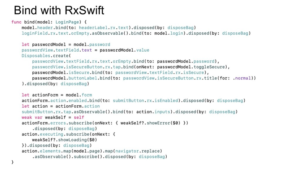 Bind with RxSwift