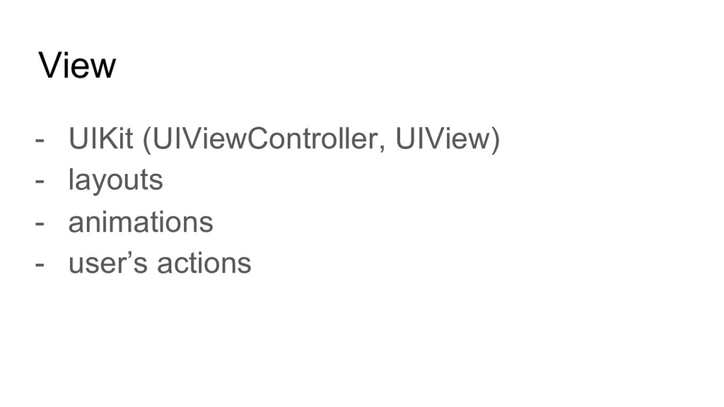 View - UIKit (UIViewController, UIView) - layou...