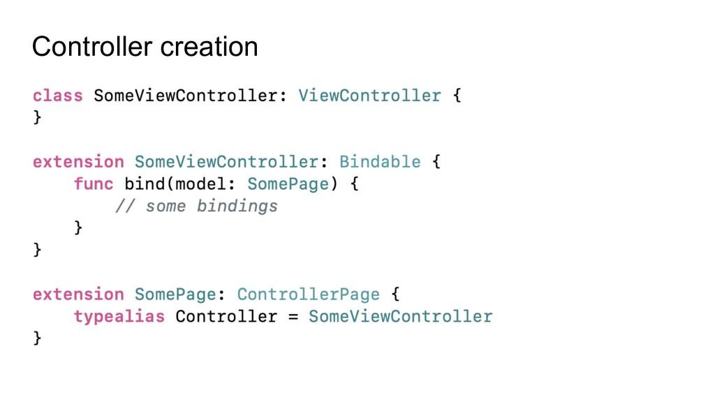 Controller creation