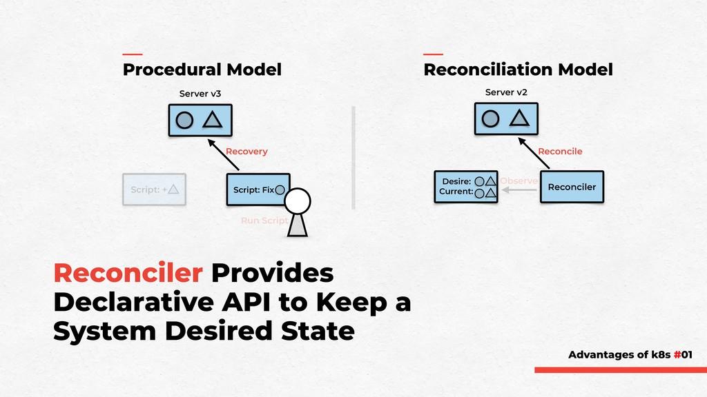 Reconciler Provides Declarative API to Keep a S...
