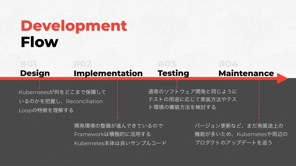 Development Flow #01 Design #03 Testing #02 Imp...
