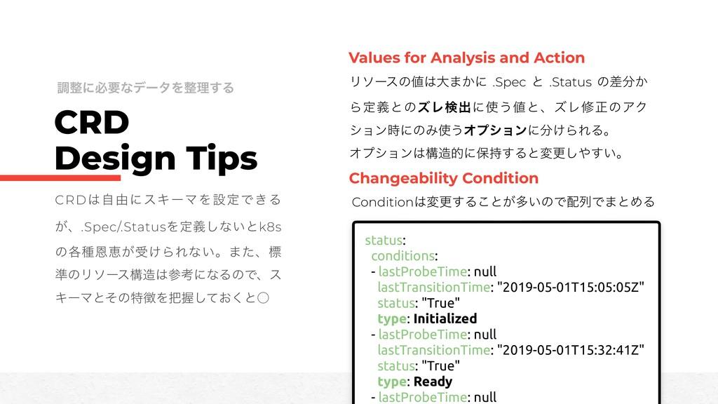 CRD Design Tips CRDࣗ༝ʹεΩʔϚΛઃఆͰ͖Δ ͕ɺ.Spec/.Stat...