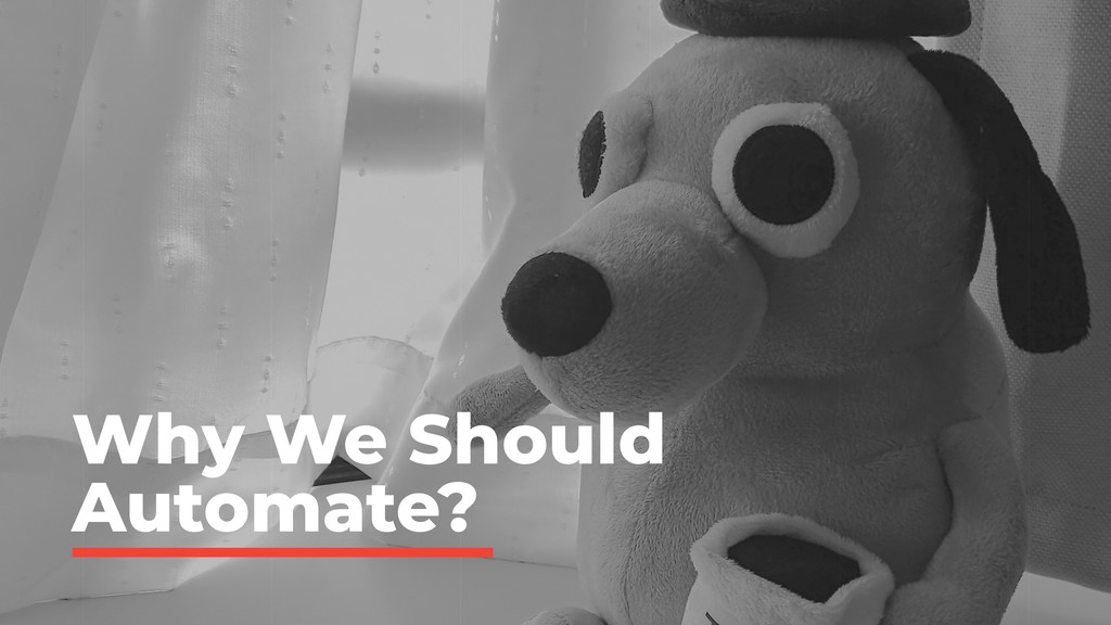 Why We Should Automate?