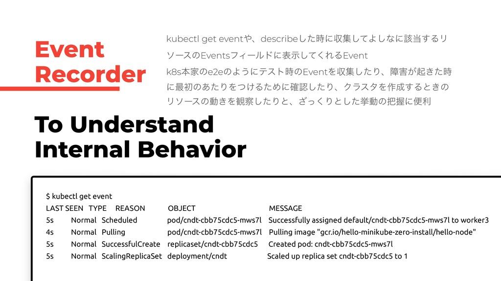 Event Recorder To Understand Internal Behavior ...