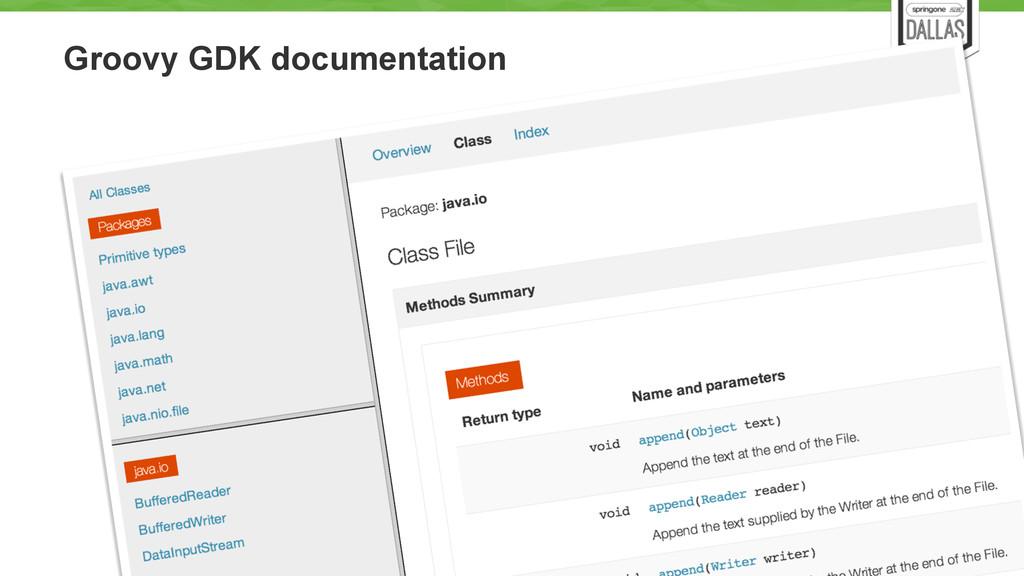 Groovy GDK documentation 52
