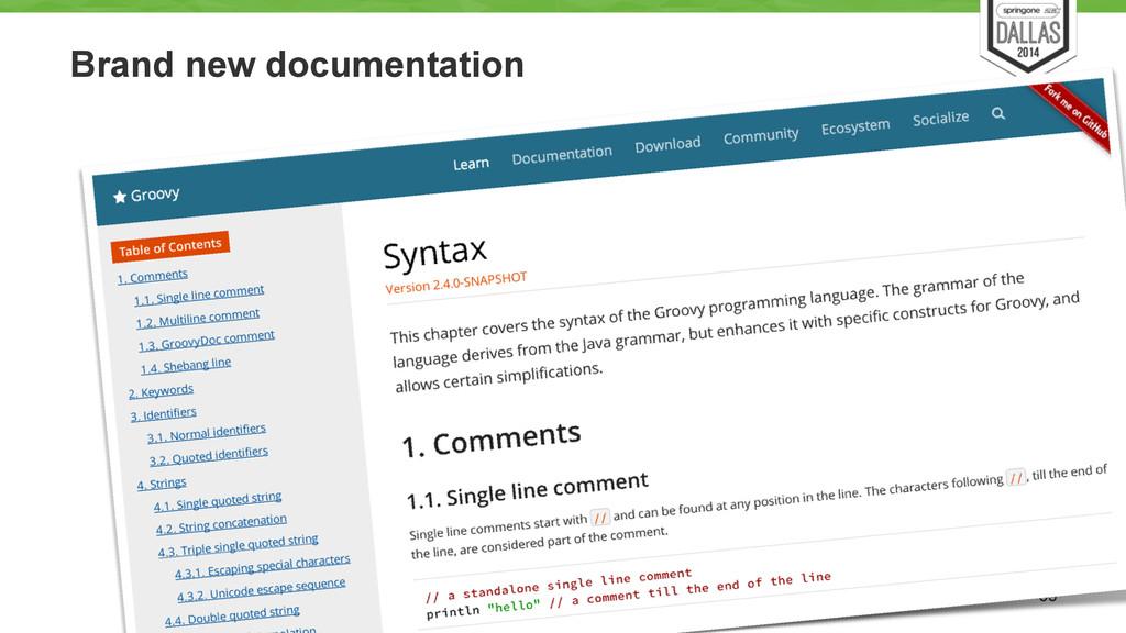 Brand new documentation 53