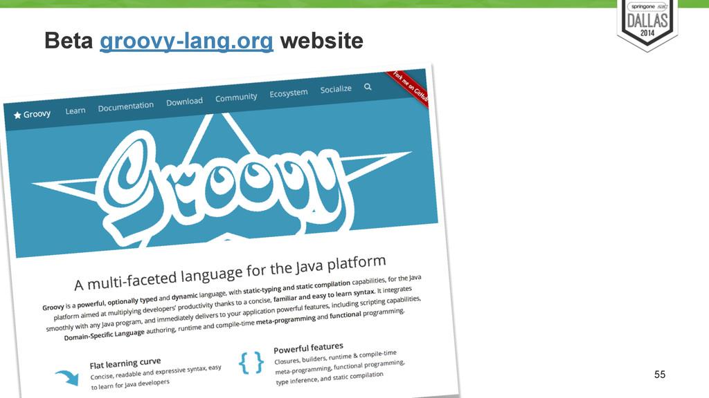 Beta groovy-lang.org website 55