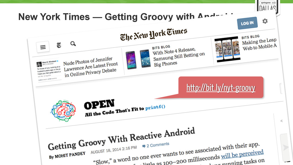 New York Times — Getting Groovy with Android 57...