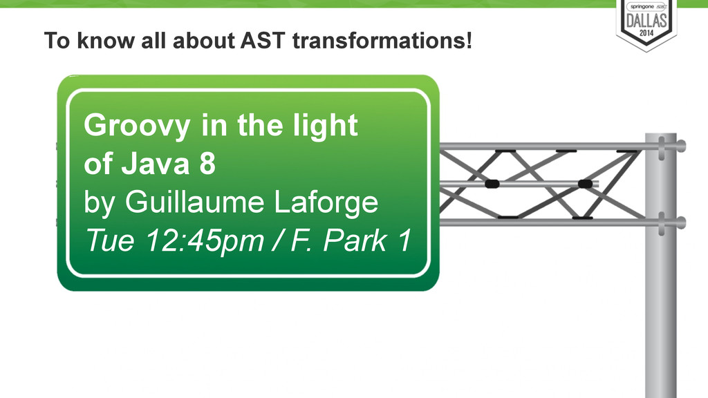 To know all about AST transformations! 13 Groov...