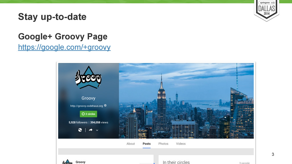 Stay up-to-date Google+ Groovy Page https://goo...