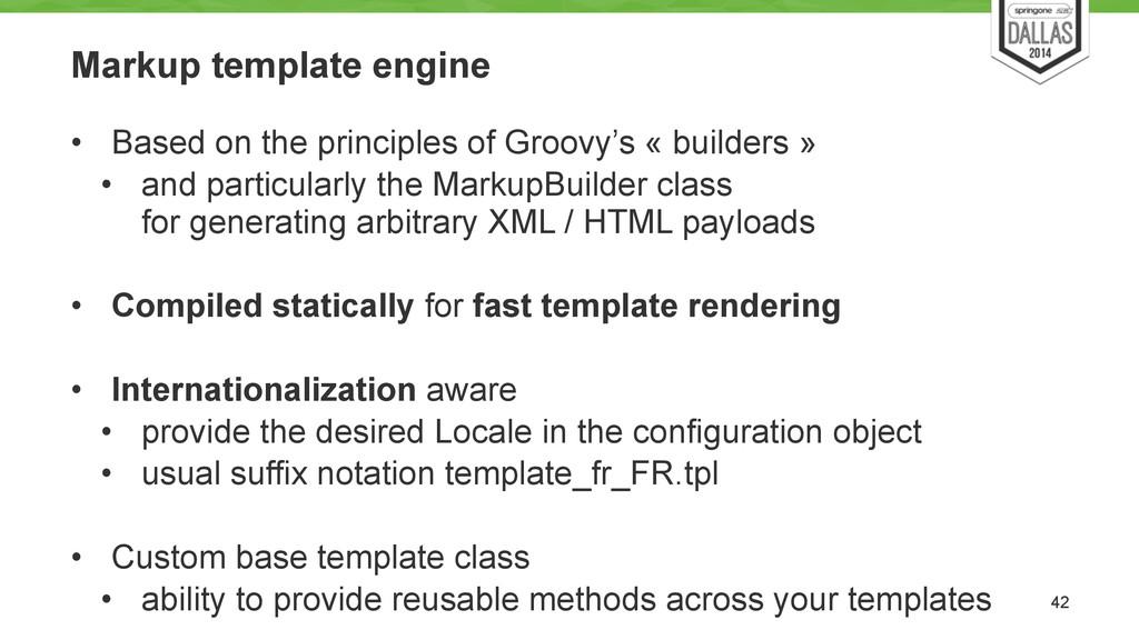 Markup template engine • Based on the principle...