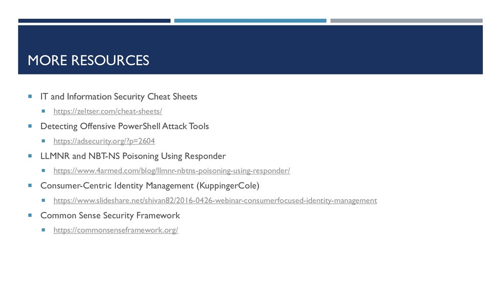 MORE RESOURCES  IT and Information Security Ch...