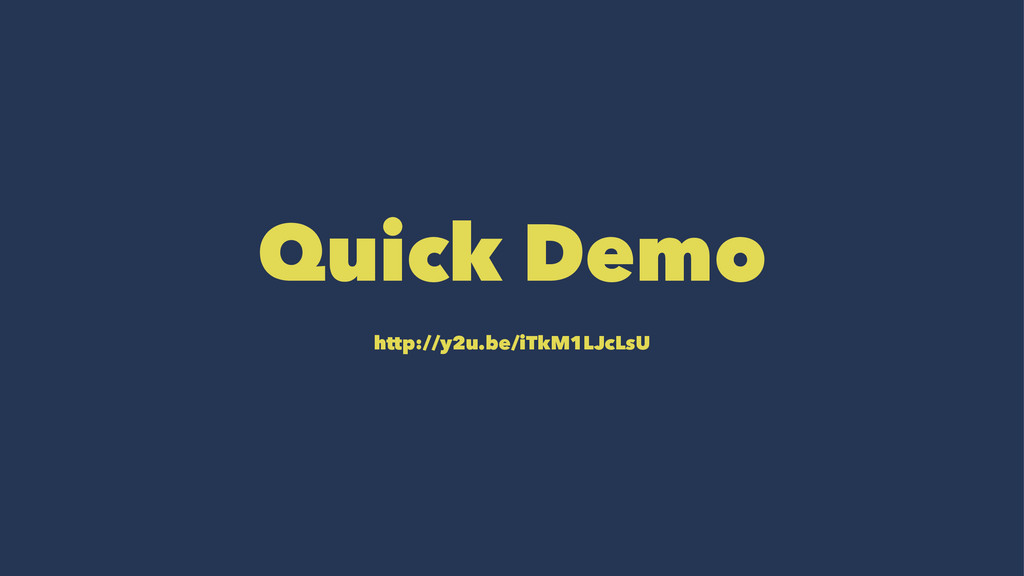 Quick Demo http://y2u.be/iTkM1LJcLsU