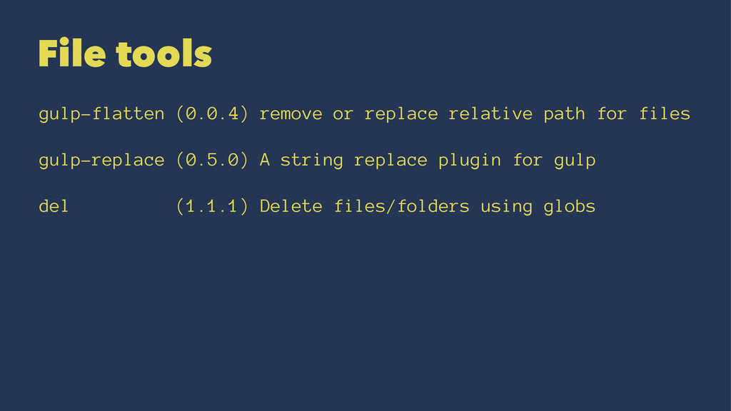 File tools gulp-flatten (0.0.4) remove or repla...